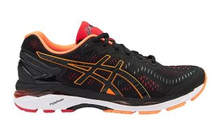 Asics GEL KAYANO 23 SCHWARZ ORANGE T646N 9030