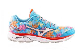 MIZUNO WAVE RIDER 20 HELLBLAU BLUMEN ORANGE J1GD170802