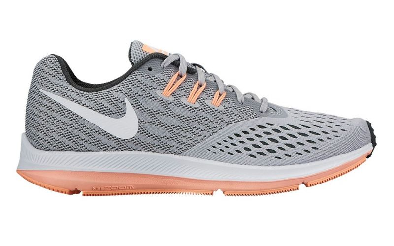 Mujer Winflo Nike 4 Zapatillas Coral Gris Zoom qAttawHO