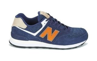 NEW BALANCE ML 574 PREMIUM SUEDE BLUE ORANGE