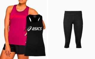 Asics PACK TWO GRAPHIC SLEEVELESS T-SHIRTS AND LEGGINGS