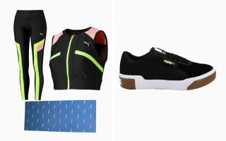 Puma PACK CALI EXOTIC, COLLANT CHASE, CROP TOP CHASE ET TAPIS AEROBIC