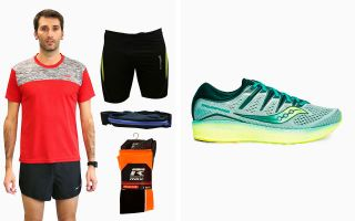 Saucony PACK TRIUMPH ISO 5 AND RUNNING EQUIPMENT