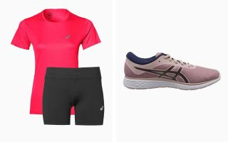 Asics PACK PATRIOT 11 TWIST, SHORT SILVER 5 ET T-SHIRT SILVER