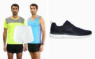 Skechers PACK SUMMITS 232027NVY UND HOSE UND 2 SHIRTS