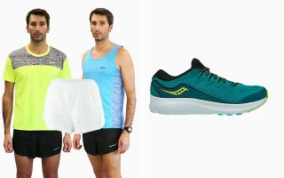 Saucony PACK RIDE ISO 2 S20514-37 AND PANTS AND 2 T-SHIRTS