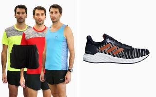 adidas PACK SOLAR RIDE F37055 AND 3 RUNAWAY T-SHIRTS