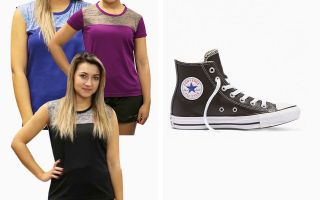 Converse PACK CHUCK TAYLOR HI TOP WOMAN AND 3 RUNAWAY T-SHIRTS