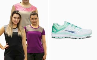 SAUCONY PACK GUIDE ISO S10415-35 MUJER Y 3 CAMISETAS RUNAWAY