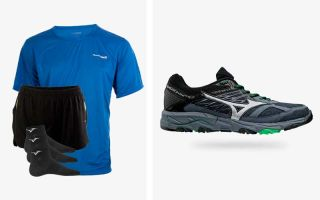 Mizuno PACK WAVE MUJIN 5 AND RUNNING OUTFIT