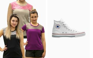 Converse PACK ALL STAR HI WOMAN AND 3 RUNAWAY T-SHIRTS
