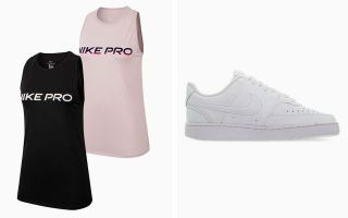 Nike COURT VISION LOW PACK AND 2 PRO TANK TOPS