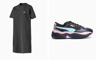 Puma PACK STORMY METALLIC ET ROBE DOWNTOWN NOIR