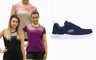 Skechers PACK SKECH 12947NVY DONNA E 3 T-SHIRTS RUNAWAY