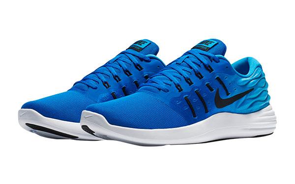 nike lunarstelos blue running shoes