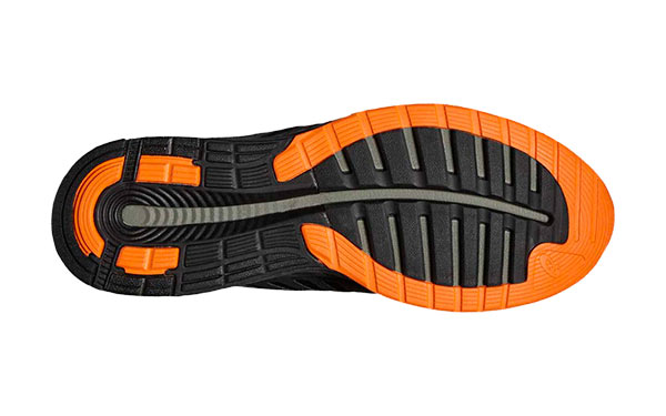 Asics Fuzex Negro Naranja StreetProRunning