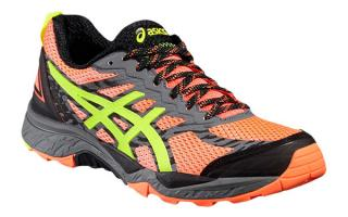 Asics GEL FUJITRABUCO 5 WOMAN SALMON FLUORESCENT YELLOW T6J5N 0607