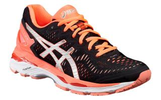 Asics GEL KAYANO 23 WOMAN BLACK SALMON T696N 9093