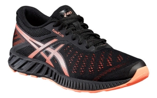 ASICS FUZEX LYTE MUJER NEGRO CORAL T670N 9006