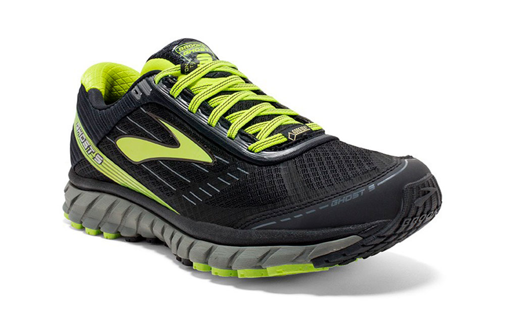 78b3de9f8496a Brooks GHOST 9 GTX BLACK GREEN 1102321D059