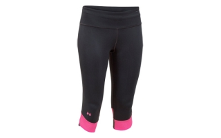 UNDER ARMOUR MALLA NEGRO ROSA COMPRESSION CAPRY